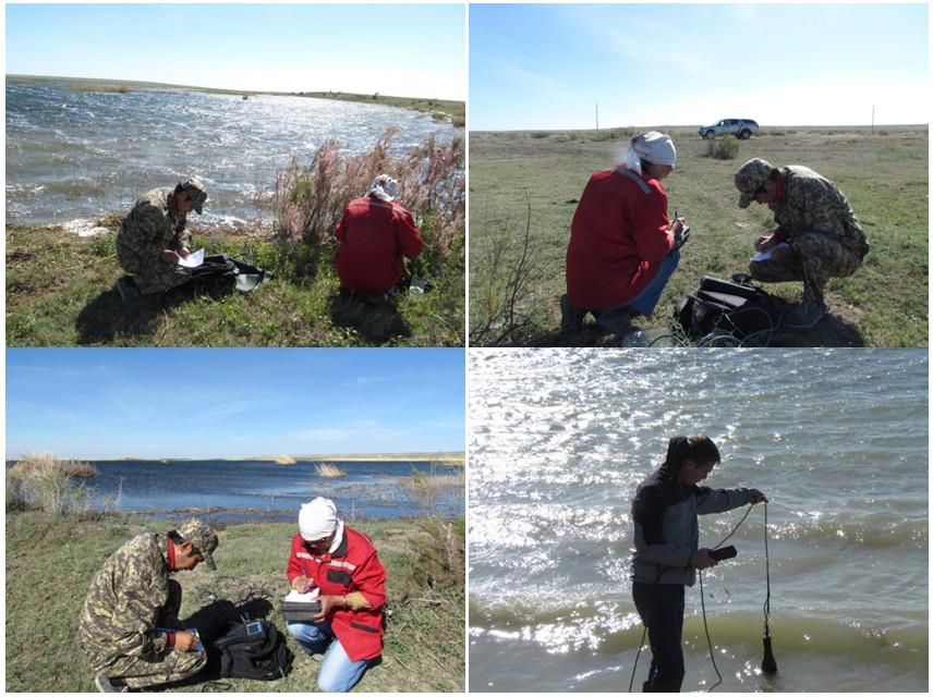 Наблюдения и измерения на дельтовых водоемах