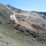 Обследование гигантского оползня, сошедшего в долине р. Колсай 19 апреля 2018 г.