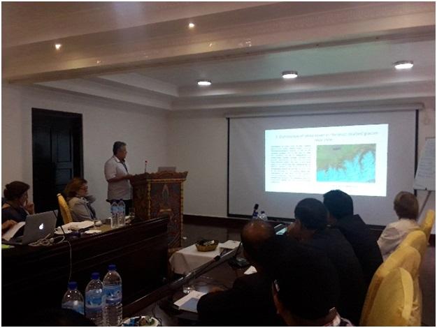 1 сурет. География институтының баяндамасы «Main results of research within CHARIS project in Kazakhstan» («Қазақстандағы CHARIS жобасы бойынша негізгі нәтижелер»)