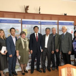 Visit of Vice Minister of Education and Science of the Republic of Kazakhstan Aymagambetov A.K. to the Institute of Geography LLP.