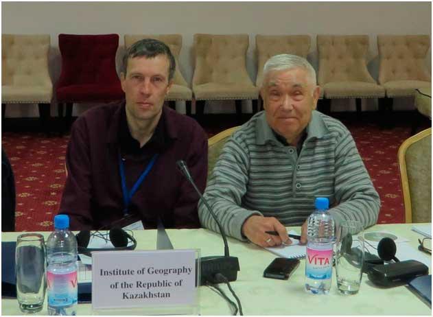 Институт географии был представлен сотрудниками лаборатории природных опасностей В.В. Ждановым и В.П. Благовещенским