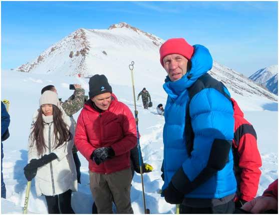 В.В. Жданов на полевых занятиях на Талгарском перевале