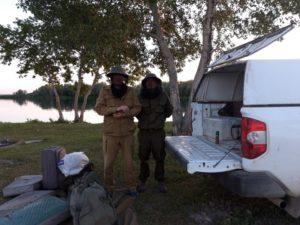 Река Оба. Размещение полевого  лагеря