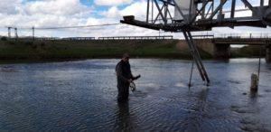 Отбор проб на реке Текес