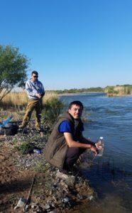 Отбор проб на реке Шелек