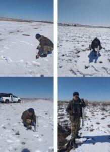 Отбор проб снега
