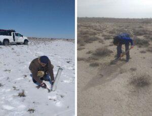 Отбор проб снега и почвы